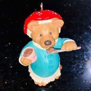 Vintage Bear Mom to Be Hallmark Christmas ornament